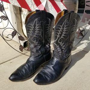 Black leather Nocona cowboy boots size 12